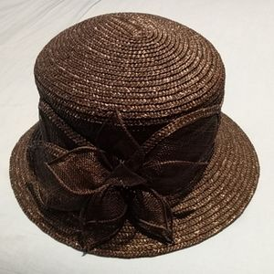 Betmar Brown Woman's Hat with flower accent